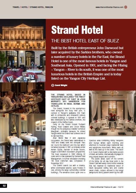 Strand Hotel THE BEST HOTEL EAST OF SUEZ