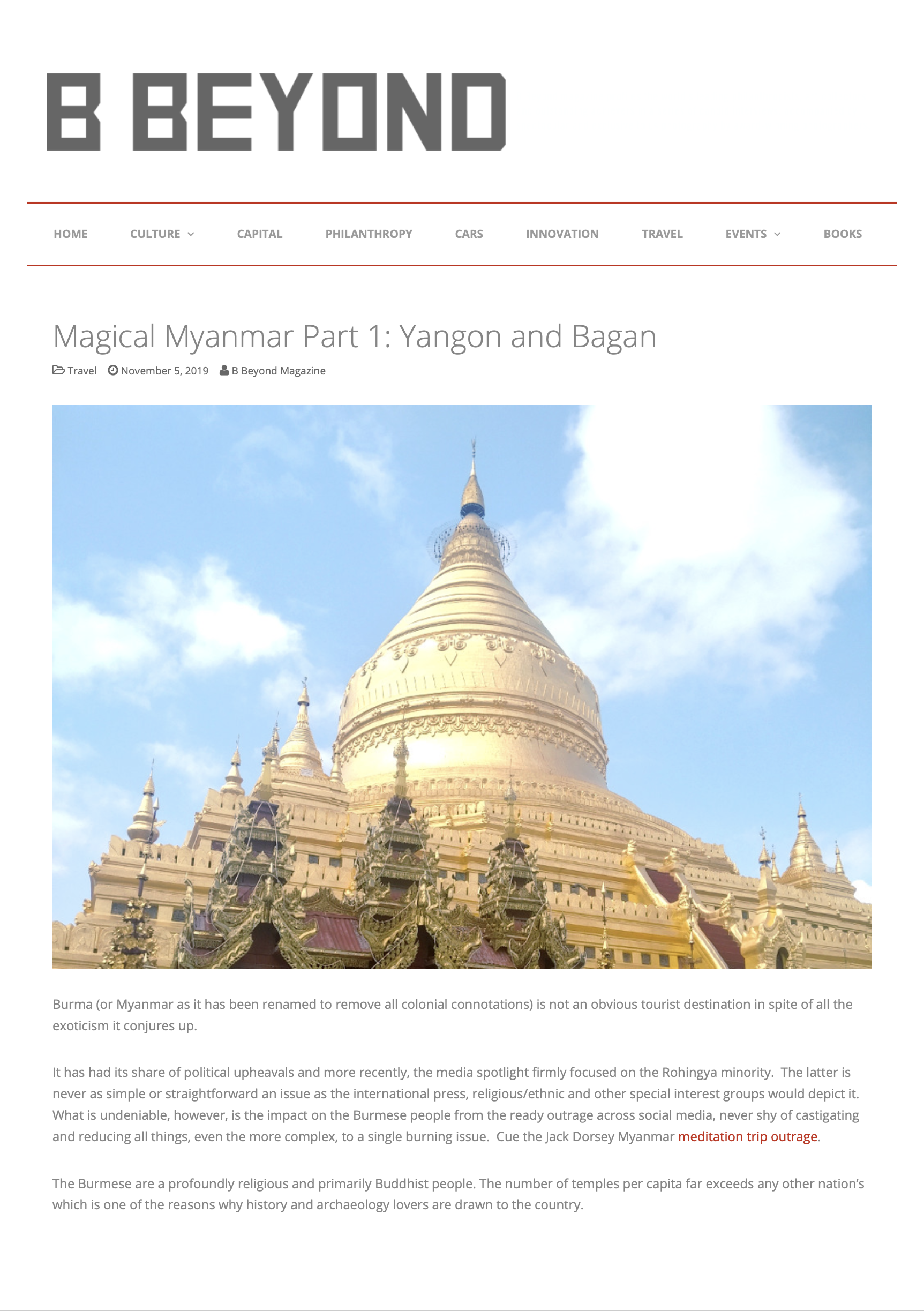Myanmar Guide 2019 Yangon and Bagan - B Beyond Magazine